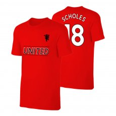 Manchester United Devil t-shirt SCHOLES, red