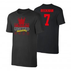 Manchester United Trophies t-shirt BECKHAM, black