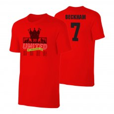 Manchester United Trophies t-shirt BECKHAM, red