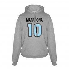 Maradona No.10 footer with hood, grey