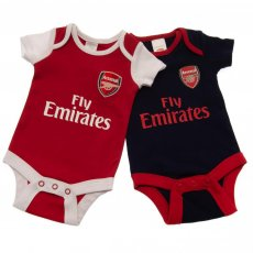 Arsenal F.C. 2 Pack Bodysuit 9/12 mths NR