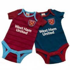 West Ham United F.C. 2 Pack Bodysuit 6/9 mths BL