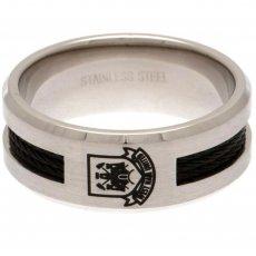 West Ham United F.C. Black Inlay Ring Large CT