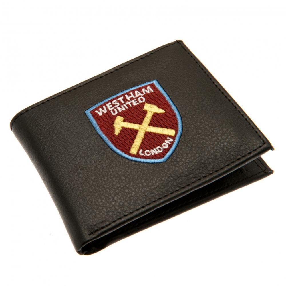 West Ham United F.c Rfid Anti Fraud Wallet Official Merchandise Fc Leather